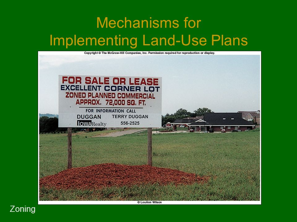 Mechanisms for Implementing Land-Use Plans