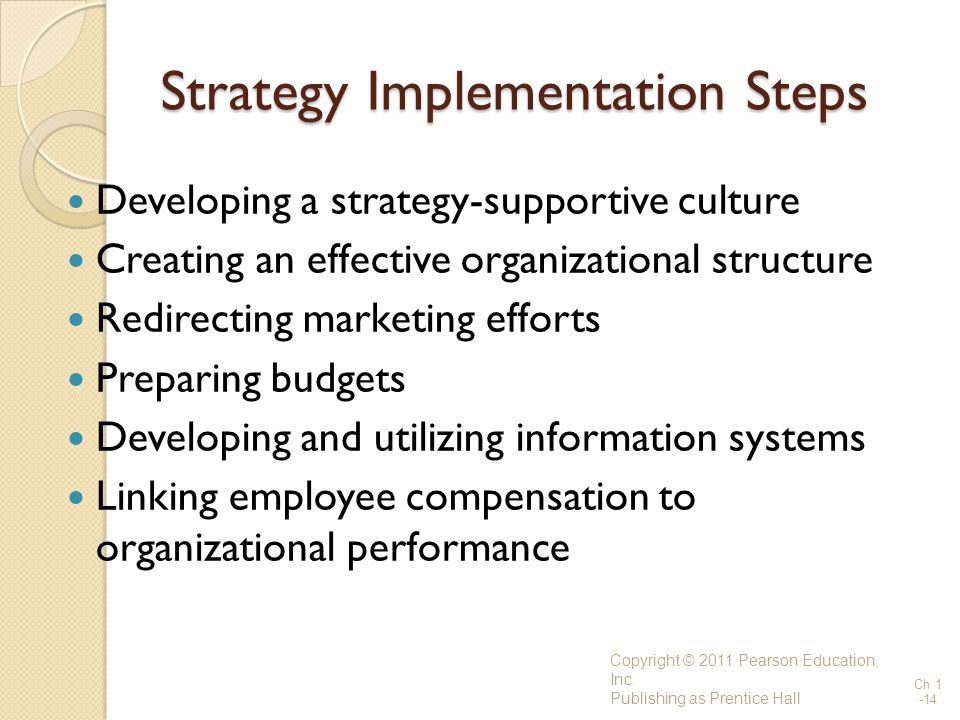 Strategy Implementation Steps