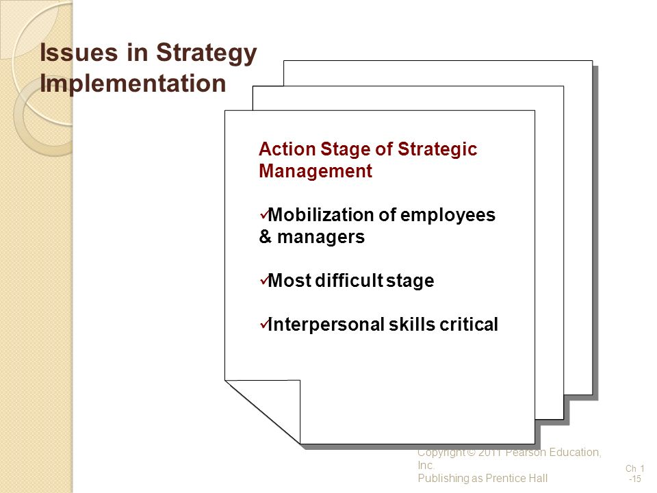 Issues in Strategy Implementation
