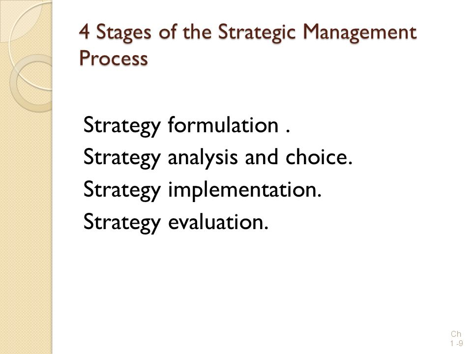 4 Stages of the Strategic Management Process