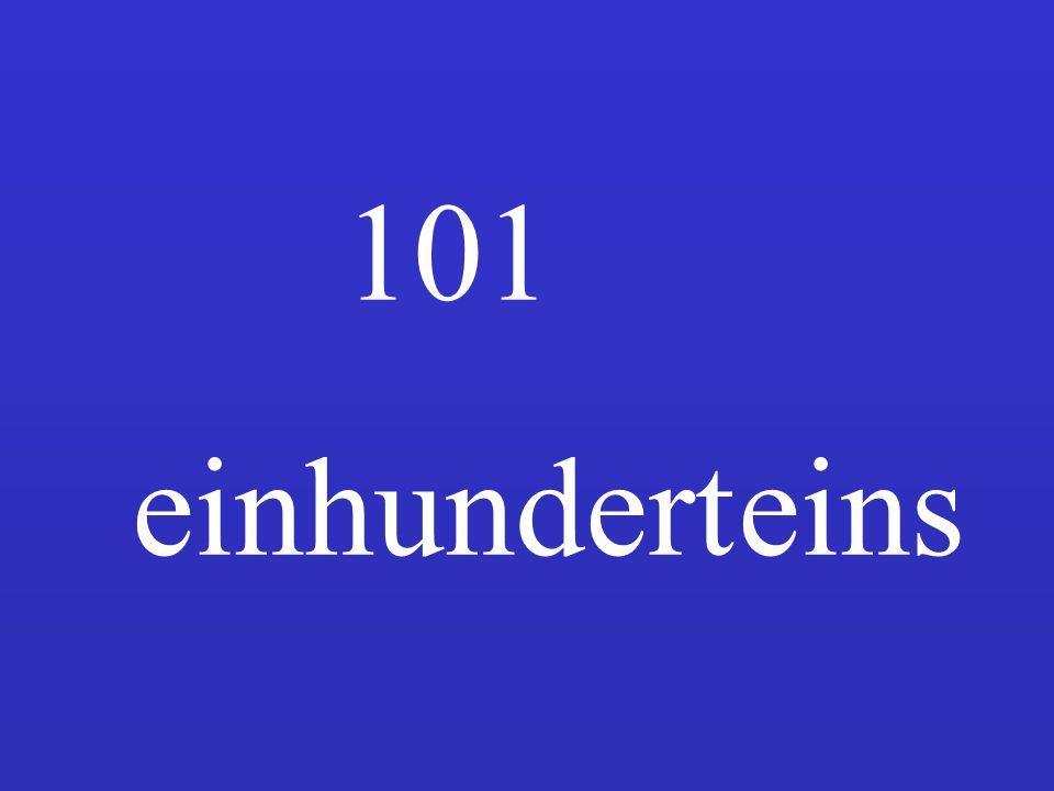 101 einhundert eins