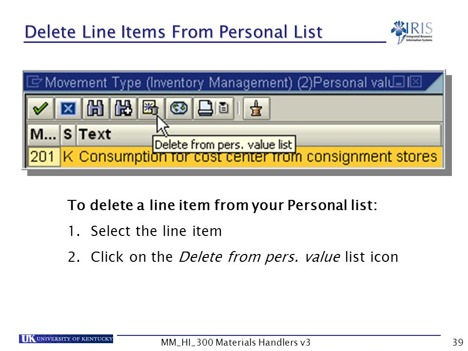 how to delete items from a list