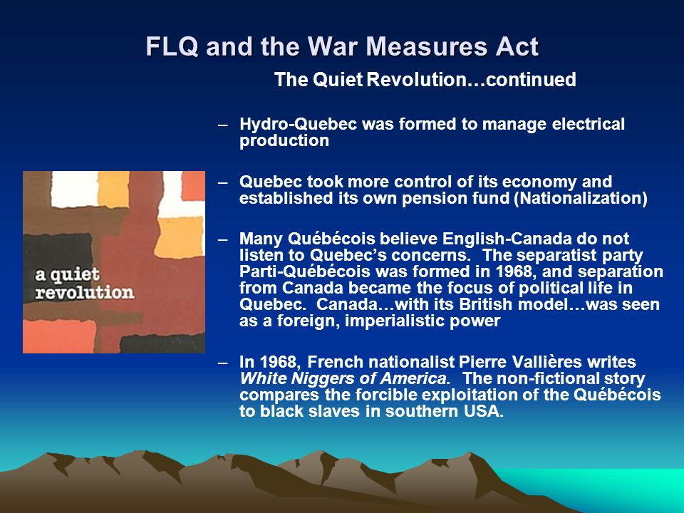 war measures act The canadian government enacted the war measures act three separate times to defend national security however, security came at the expense of personal liberties and.