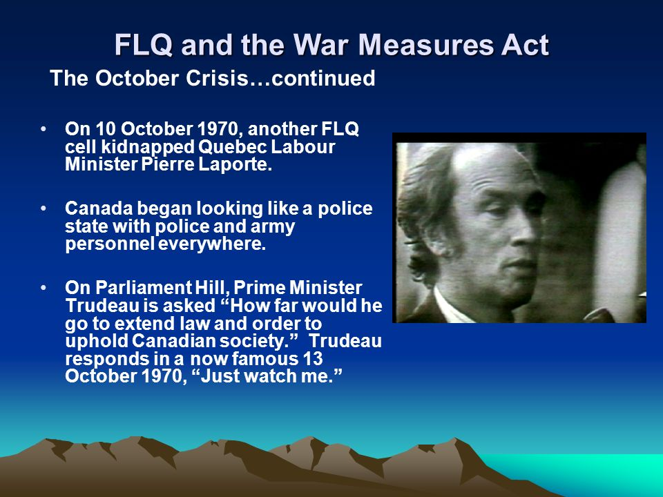The October crisis: Pierre Trudeau and the suppression of civil liberties