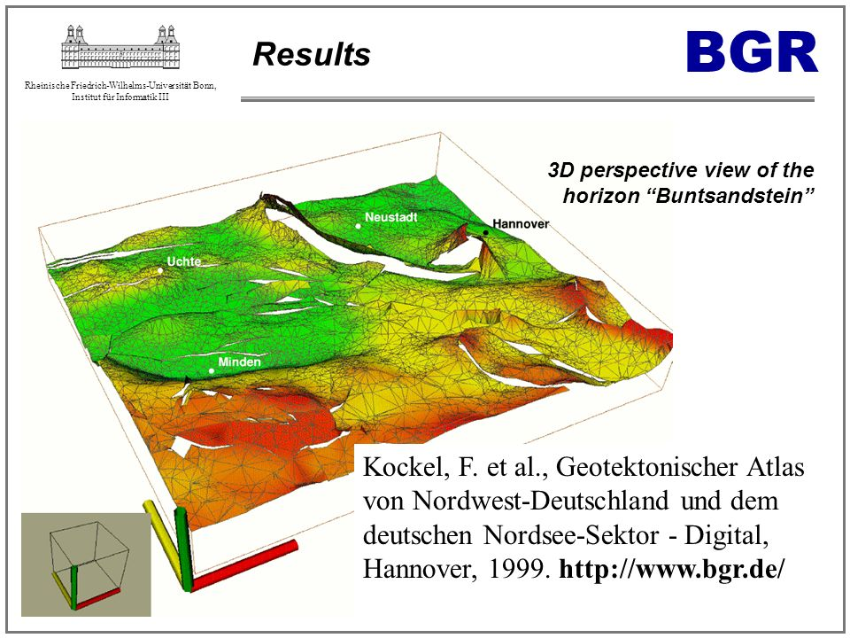 Results BGR. 3D perspective view of the horizon Buntsandstein