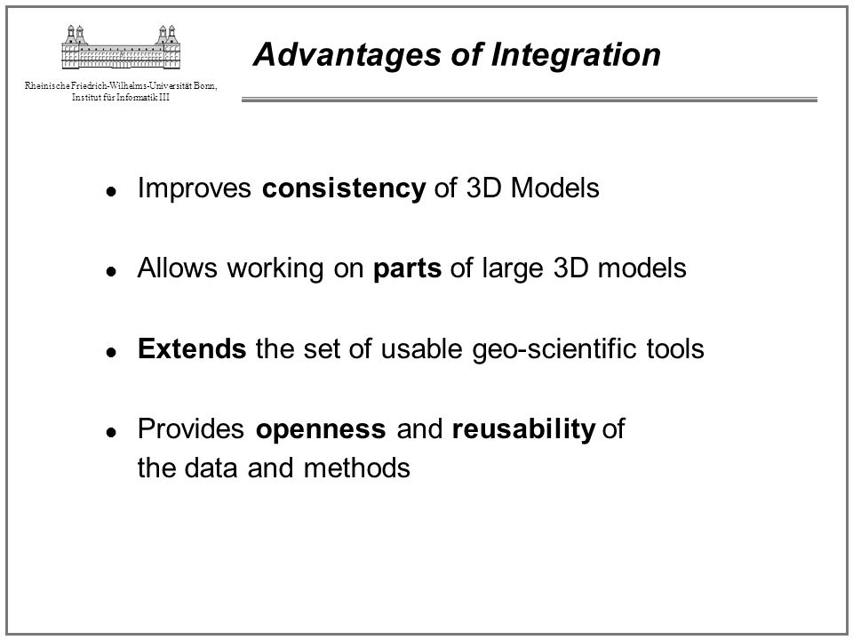 Advantages of Integration