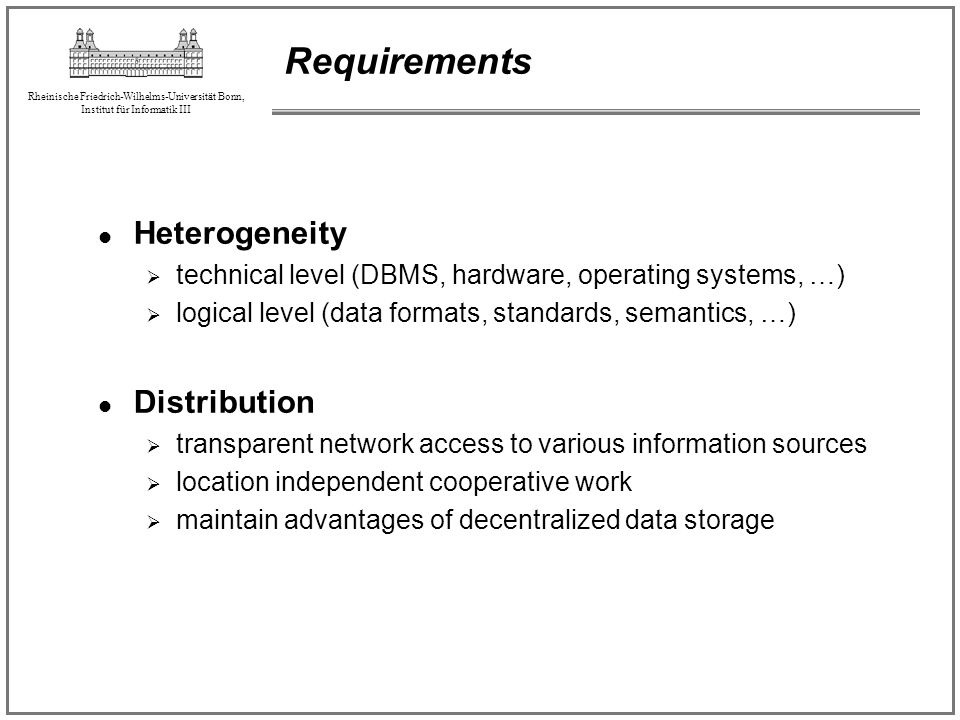 Requirements Heterogeneity Distribution