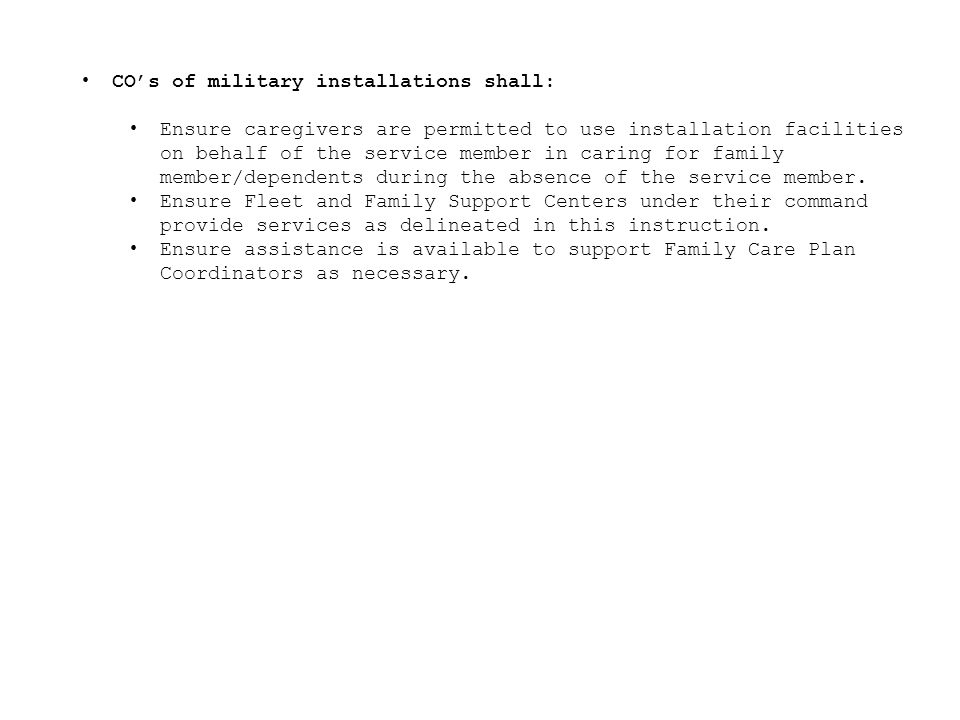 OPNAVINST C U. S. Navy Family Care Policy - ppt video online download