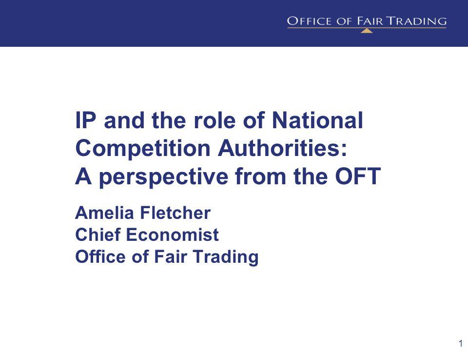 Amelia Fletcher Chief Economist Office of Fair Trading