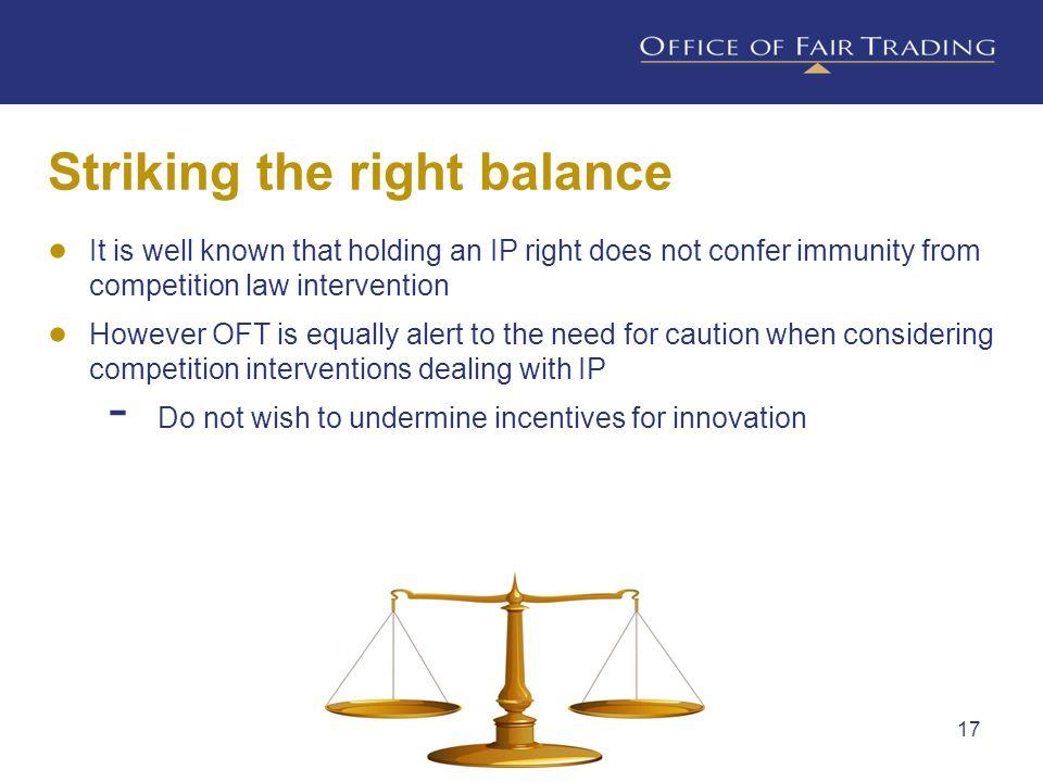 Striking the right balance