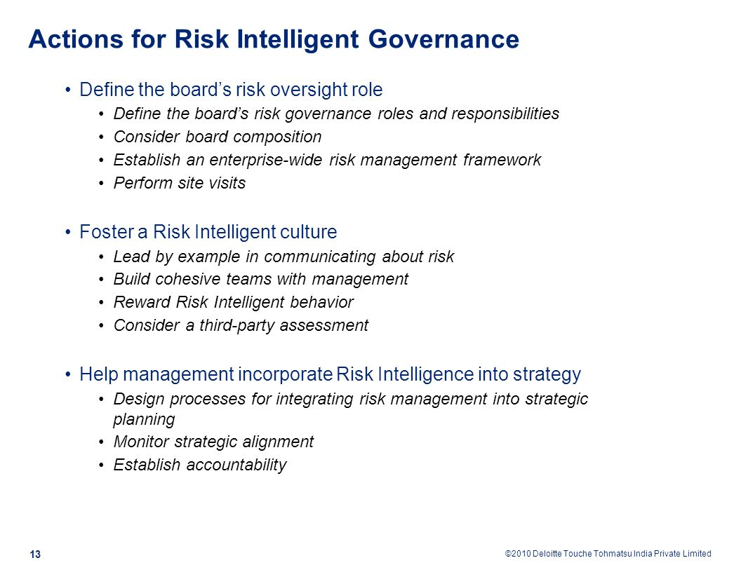 Coso 2016 enterprise risk management aligning risk with strategy -  Management Into Strategic Planning Monitor Strategic Alignment Establish Accountability Actions For Risk Intelligent Governance