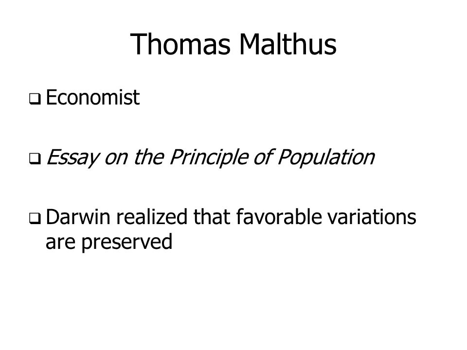 thomas malthus essay on the principle of population summary Malthusian theory of population thomas robert malthus was the first economist in essay on the principle of population,malthus proposes the principle that.