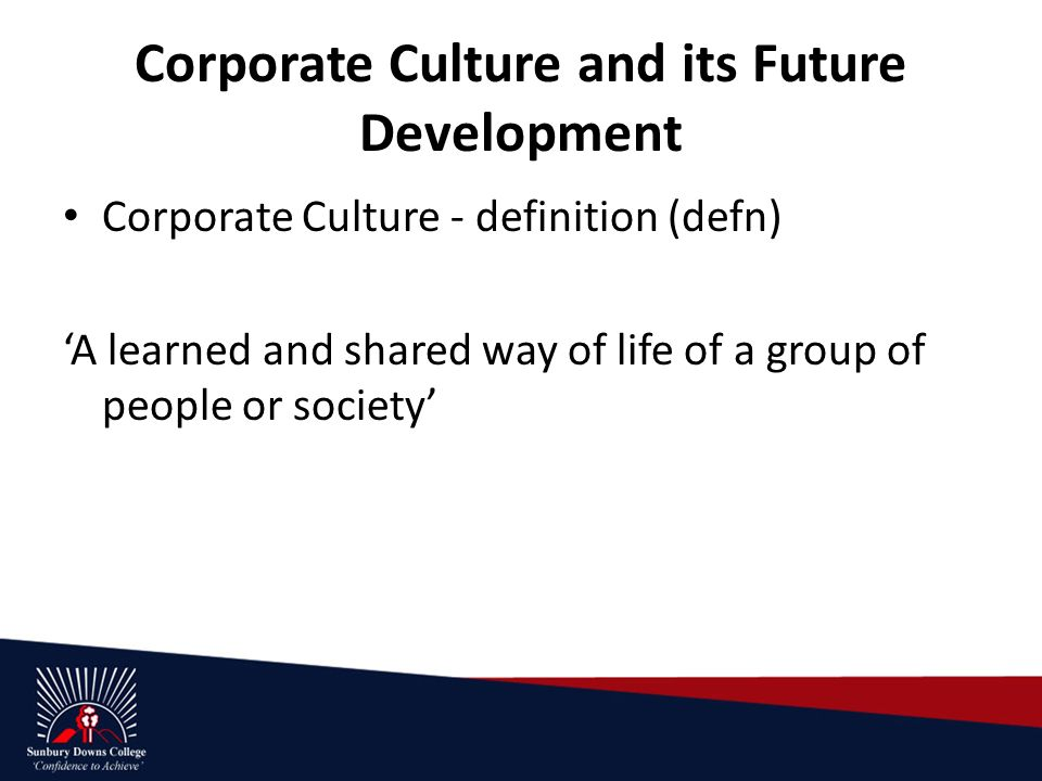 developing corporate culture essay