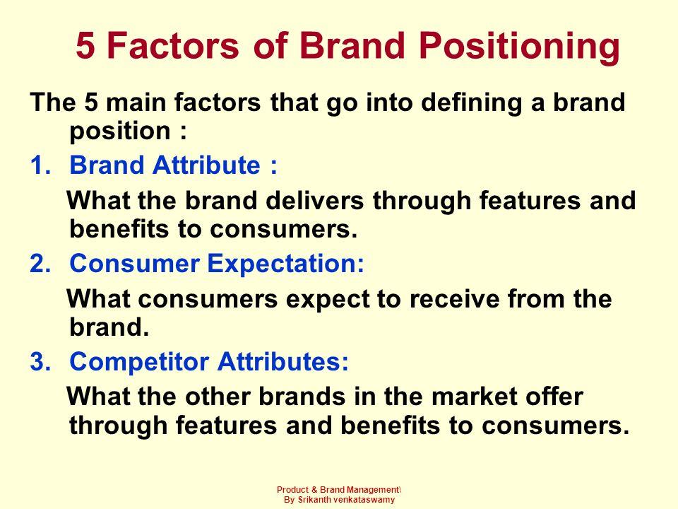 5 Factors of Brand Positioning