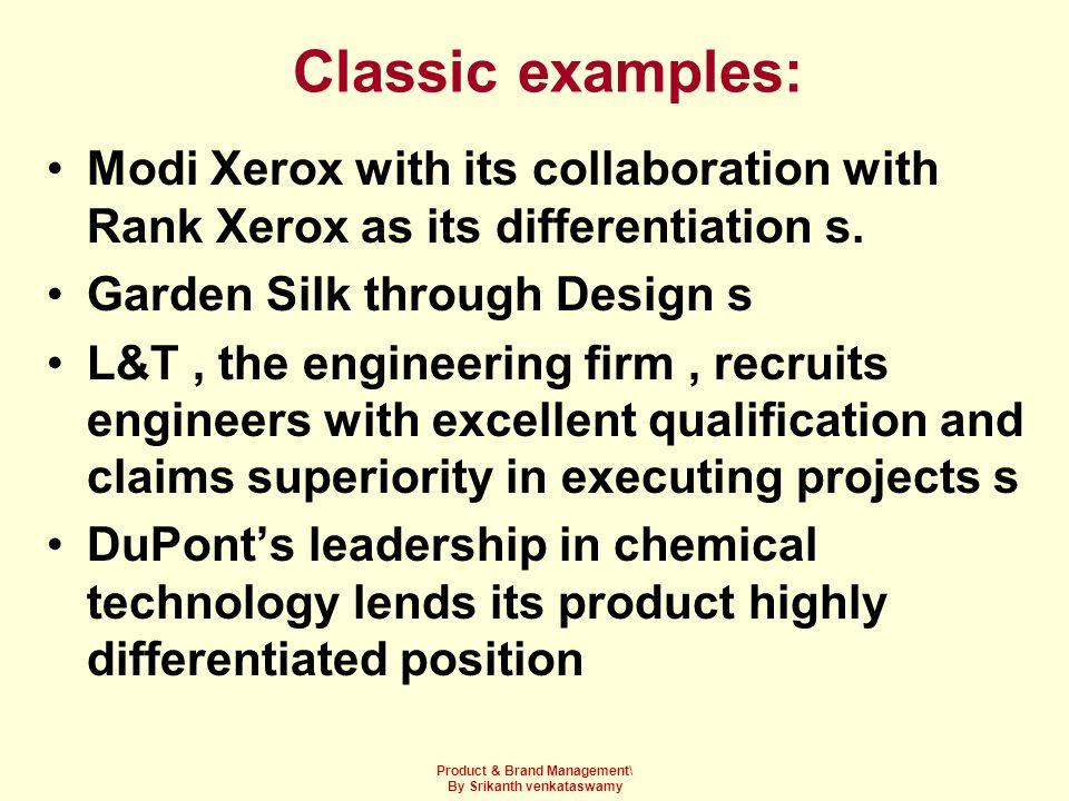 Product & Brand Management\ By Srikanth venkataswamy