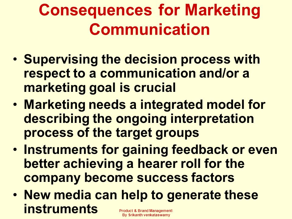 Consequences for Marketing Communication