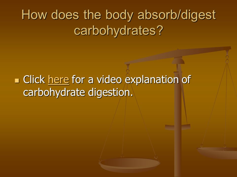 Carbohydrates Sugar, Starch and Fiber. - ppt video online download