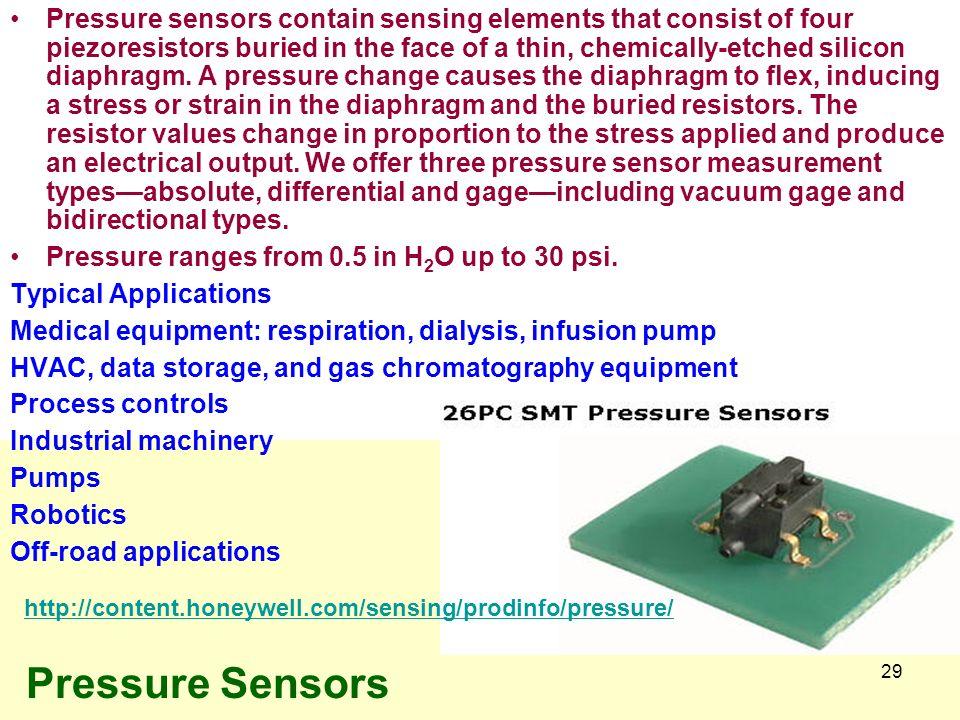 Mechanical Sensors Position Sensors Level Sensors Stress