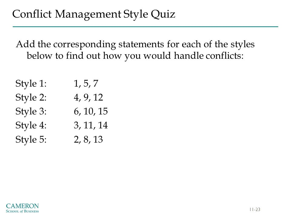 leadership styles questions