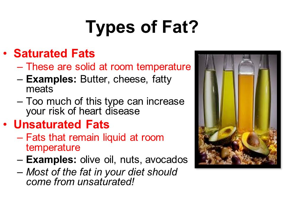 Saturated Fat Example