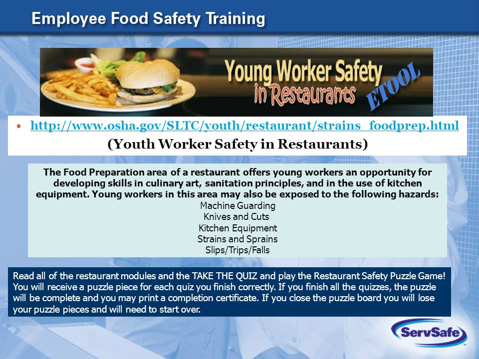 hazards to food safety