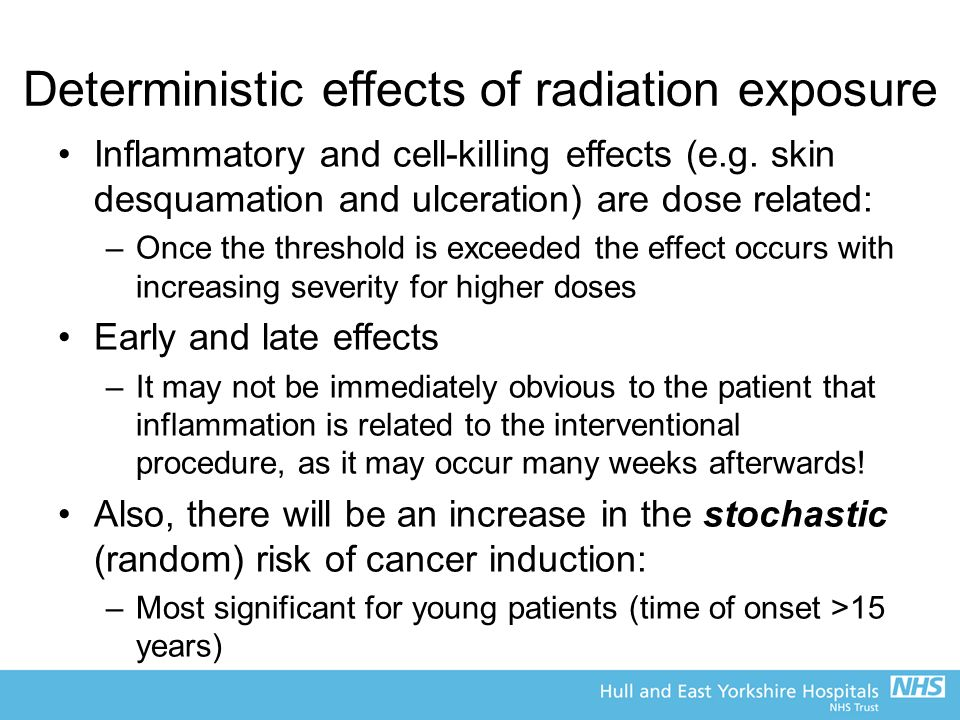 the effects of early exposure to Radiation health effects epa uses current scientific understanding of the health effects of radiation exposure to create protective standards and guidance.