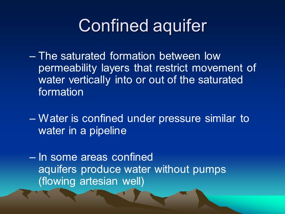 difference between confined and unconfined aquifer pdf