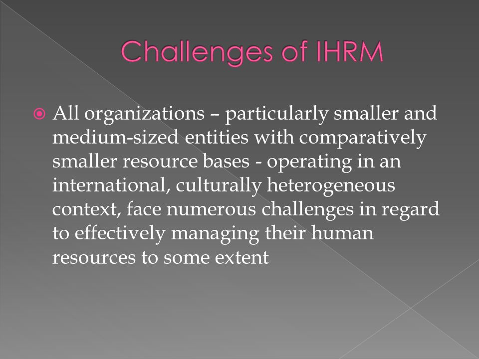 major challenges that face human resources This paper reviews the challenges facing the public health workforce in developing to the strengthening of human resources for health another major gap is the.