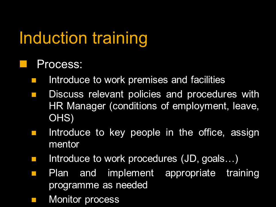 induction process Induction process of food manufacturing company management essay this research proposal focuses on the induction process of food manufacturing company that require changes in existing induction programme to improve the work quality, company performance, ethics and new academic staff and the role of their head of department.