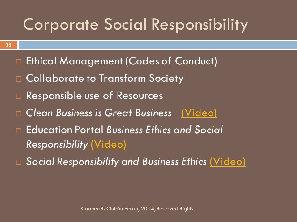 business code of ethics socially responsible Read this essay on ethical and socially responsive business activities a key aspect of the cheese cake factory's code of ethics and business conduct is using common sense ethical and socially responsive business ethics and social responsibility are important areas within chipotle.