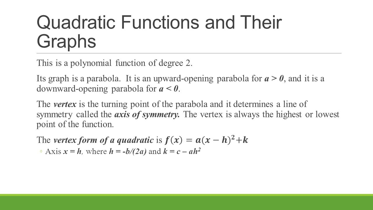 Precalculus chapter 2 section 1 ppt video online download 11 quadratic functions falaconquin