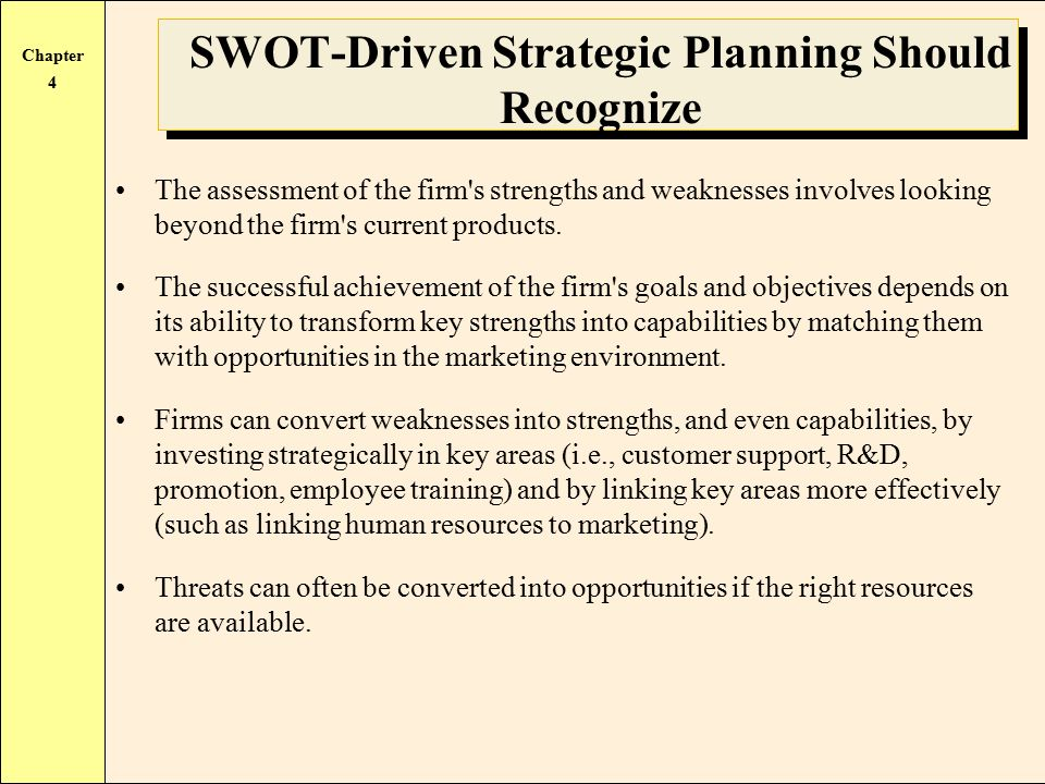 swot  the analysis of strengths