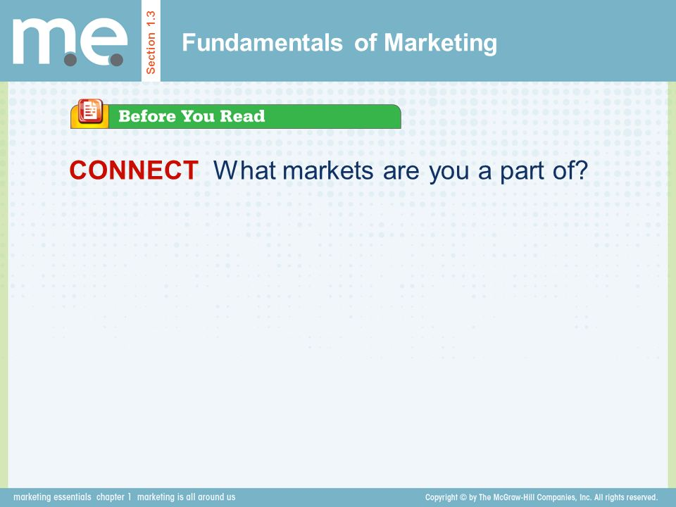 Fundamentals of Marketing