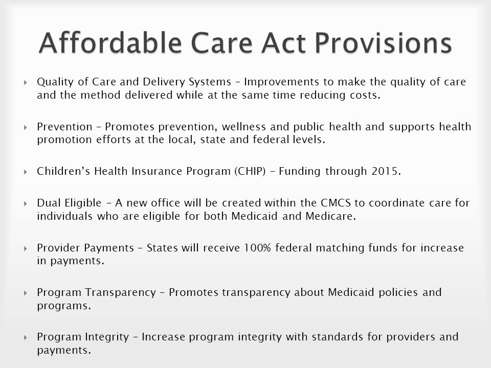 Becoming More Aware Of The Aca Medicaid Impact On