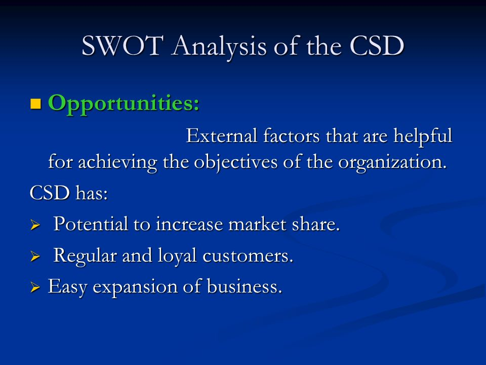 Industry analysis csd