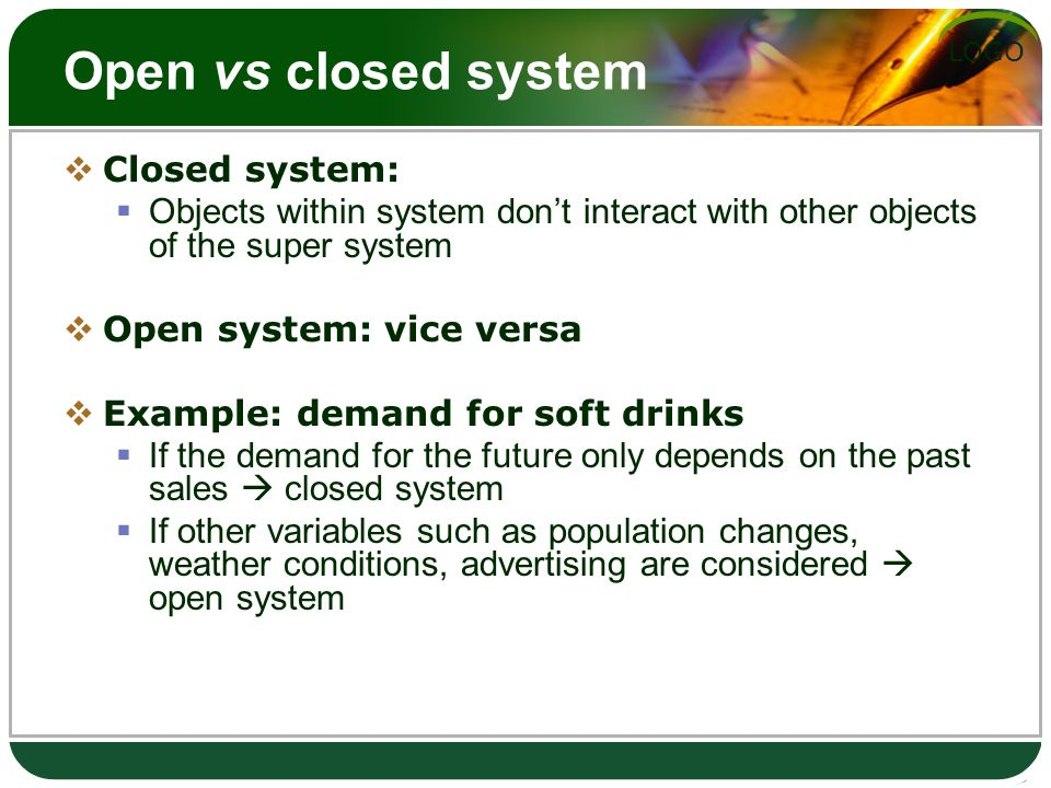 open closed systems essay example The closed and open model approach of public administration focuses on the organization itself and views them as an open or a closed system.