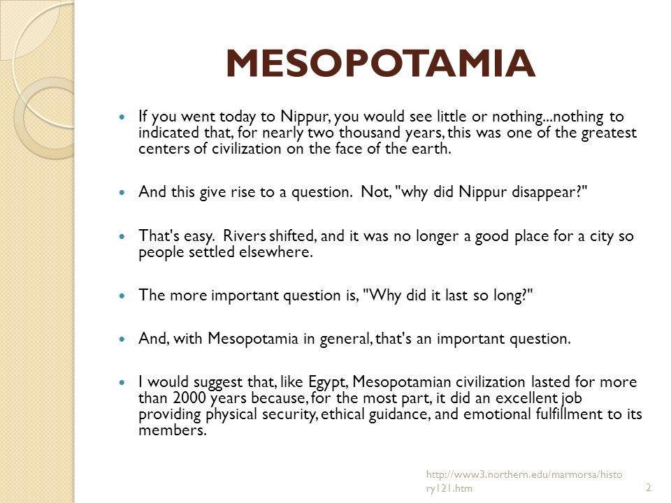 Mesopotamia Questions - All Grades