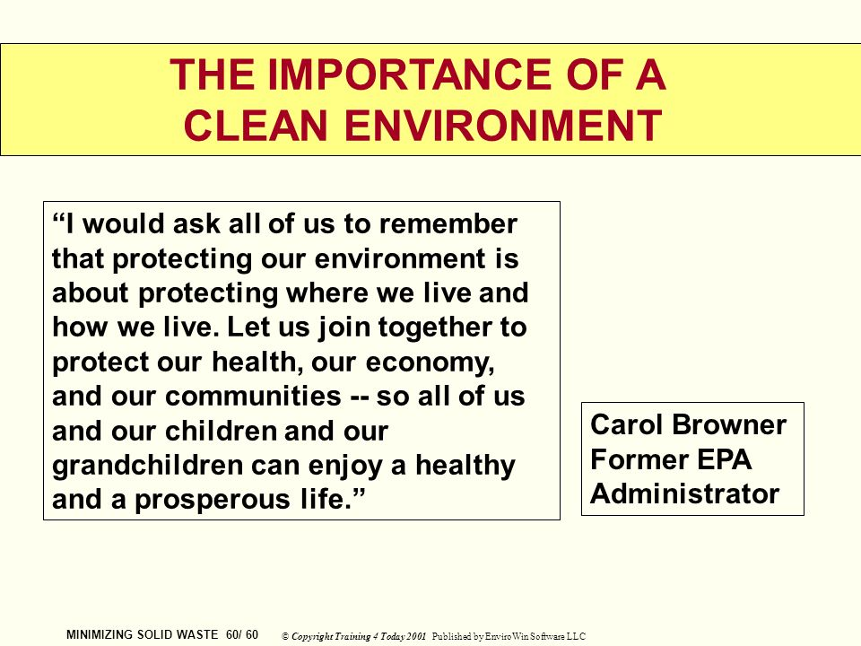 importance of protecting environment Below are three environmental goals that are critical to achieving sustainable   quickly you can make a positive difference in protecting our environment for your .