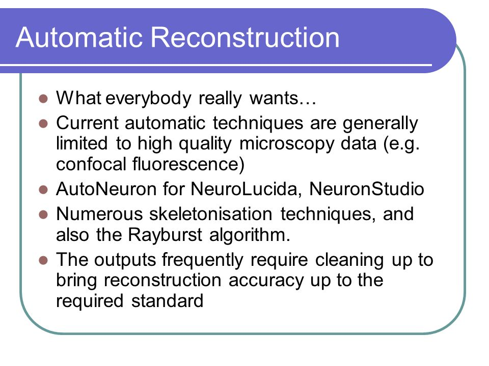 Automatic Reconstruction