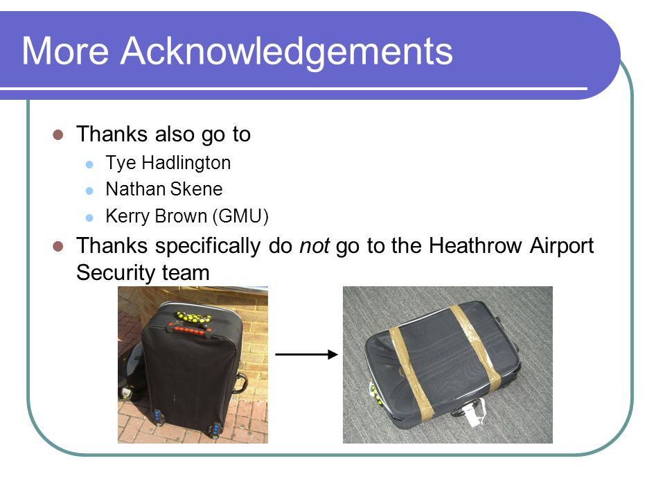 More Acknowledgements