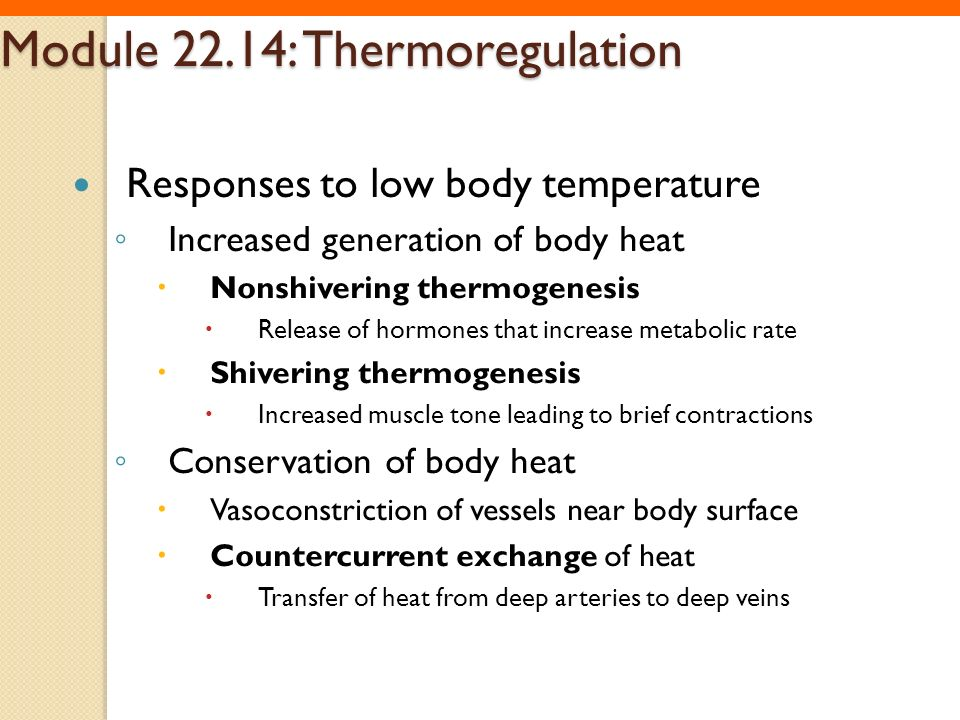 Module 22.14: Thermoregulation