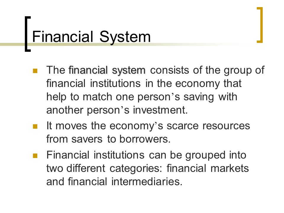 saving and financial institutions Of financial institutions  institutions that specialize in savings type deposits, mortgages and other  different types of financial institutions author:.
