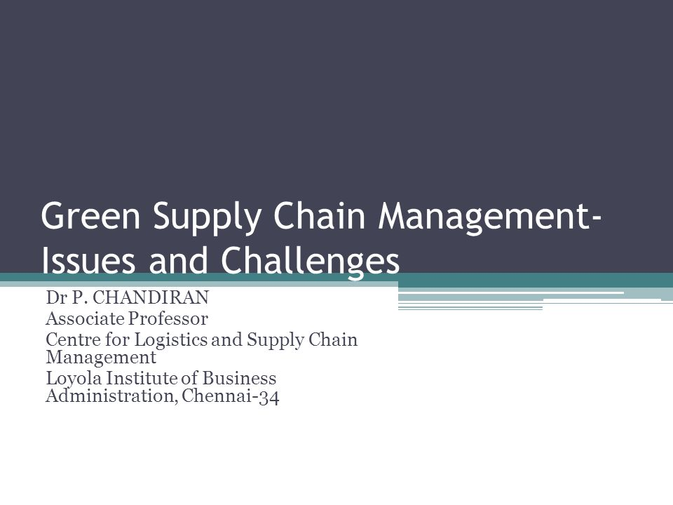 75 Green Supply Chain Partners