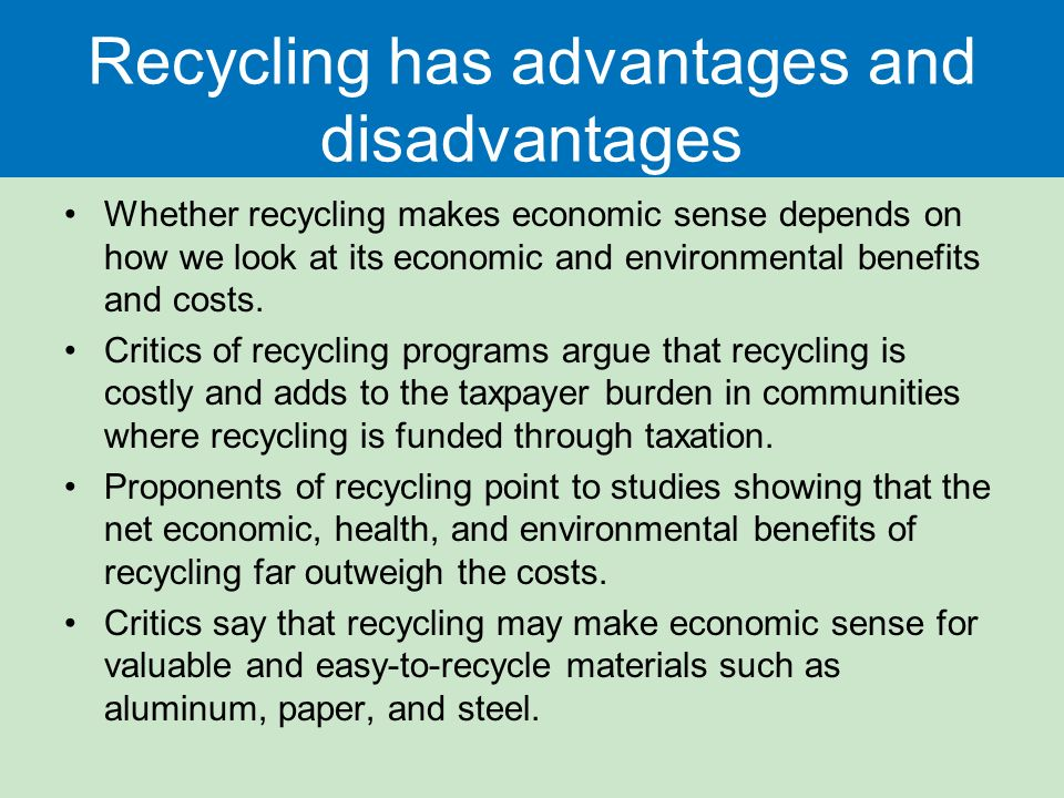 What Are the Disadvantages of Recycling?