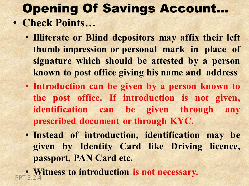 Saving bank ppt download - Post office joint account ...