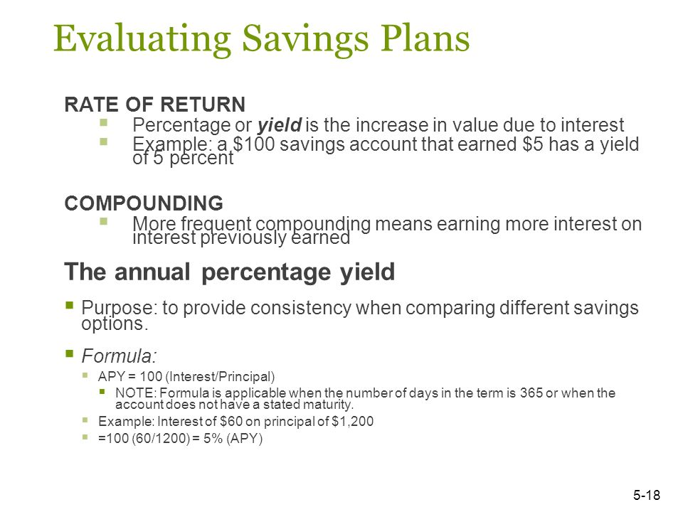savings plan formula