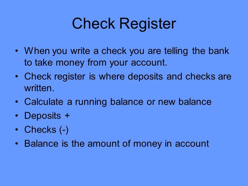 How to write a check for exact amount
