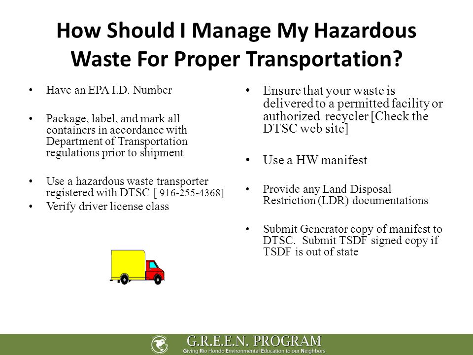 August 6th 2010 Waste Management Instructor: Skip Ricarte. - ppt ...