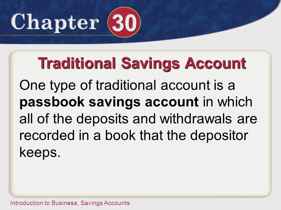 Traditional Savings Account