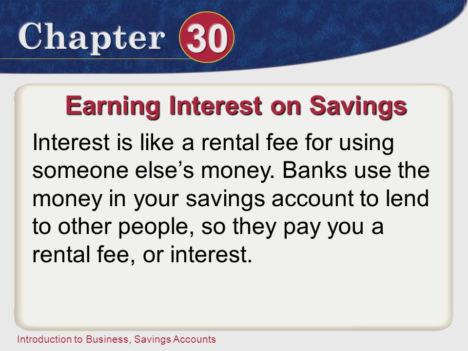 Earning Interest on Savings